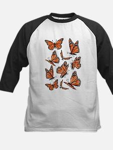 Geometric Monarch Butterfly Baseball Jersey