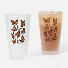 Geometric Monarch Butterfly Drinking Glass