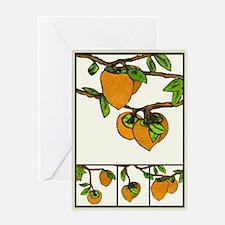 persimmons Greeting Card