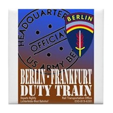 The Berlin to Frankfurt Duty Tile Coaster