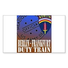 The Berlin to Frankfurt Duty Rectangle Decal
