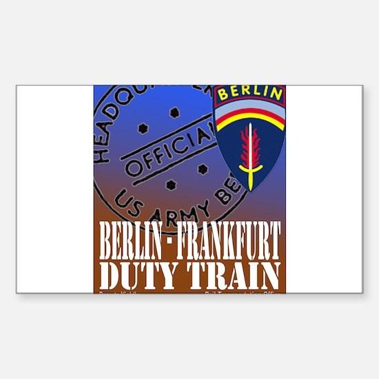 The Berlin to Frankfurt Duty Rectangle Decal