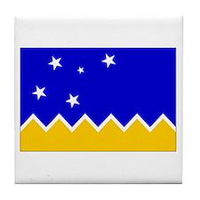 Magallanes Chile Flag Tile Coaster