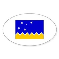 Magallanes Chile Flag Oval Decal