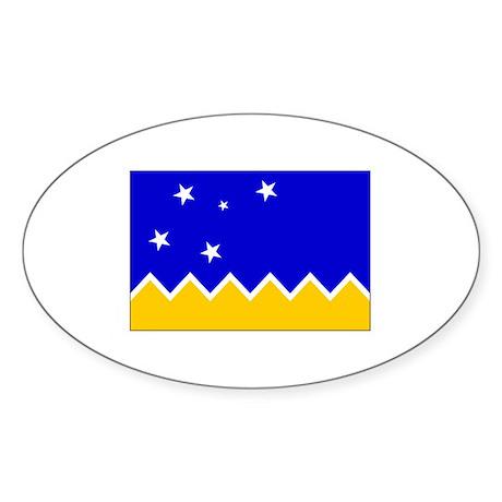 Magallanes Chile Flag Oval Sticker