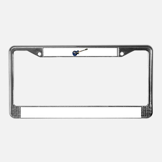 Utah State Flag Guitar License Plate Frame