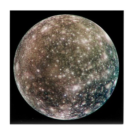 Global Callisto Moon of Jupiter Tile Coaster