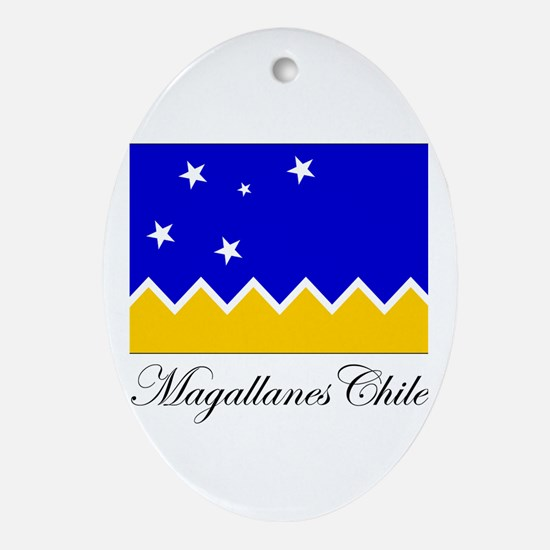 Magallanes Chile - Flag Oval Ornament