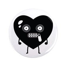 """Lil' Gimp"" Bedroom Heart 3.5"" Button"