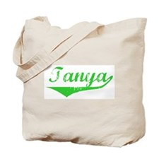 Tanya Vintage (Green) Tote Bag