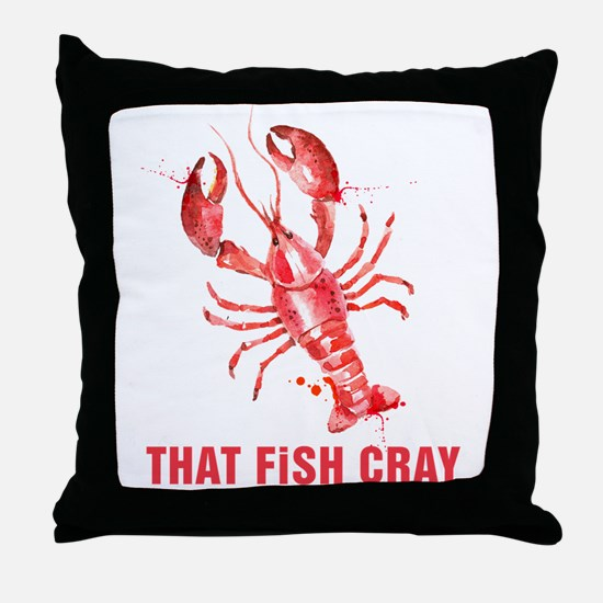 Red Lobster Watercolors That Fish Cra Throw Pillow