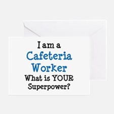 cafeteria worker Greeting Card