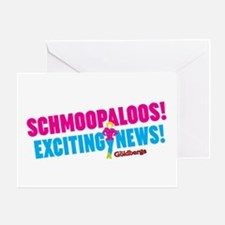 Schmoopaloos Exciting News Greeting Cards
