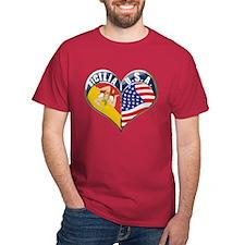 SICILIA U.S.A HEART T-Shirt