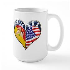 SICILIA U.S.A HEART Mug