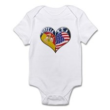 SICILIA U.S.A HEART Infant Bodysuit