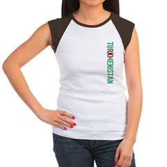 Turkmenistan Stamp Women's Cap Sleeve T-Shirt