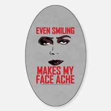 Rocky Horror Face Ache Sticker (Oval)