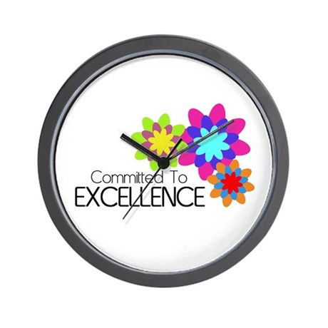 """""""Committed to Excellence"""" Wall Clock"""