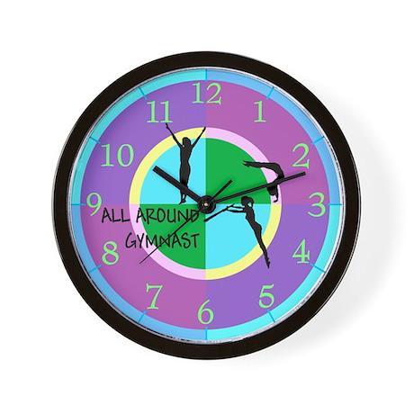 All Around Gymnastics Wall Clock