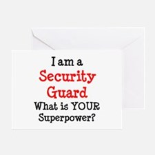 security guard Greeting Card