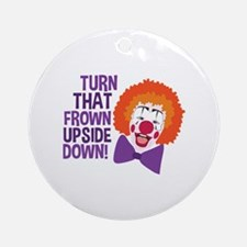 Frown Updide Down Round Ornament
