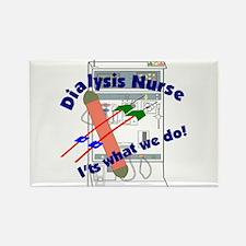 Cute Dialysis nurse Rectangle Magnet