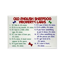 Old English Sheepdog Property Laws 2 Rectangle Mag
