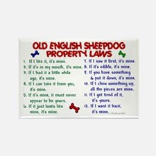 Old English Sheepdog Property Laws 2 Rectangle Mag