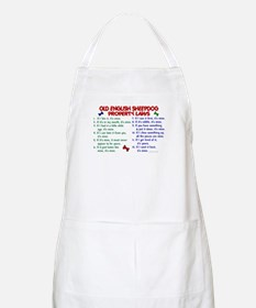 Old English Sheepdog Property Laws 2 BBQ Apron