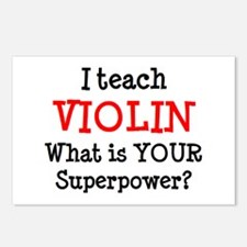 teach violin Postcards (Package of 8)
