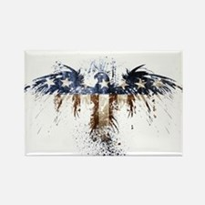 Funny Bald eagle flag Rectangle Magnet