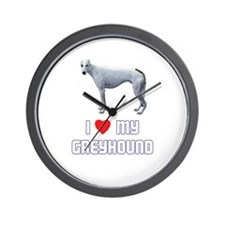 I Love My Greyhound Wall Clock