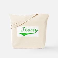 Tessa Vintage (Green) Tote Bag