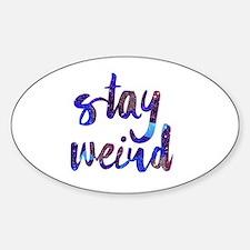 Cute Funny weird Sticker (Oval)