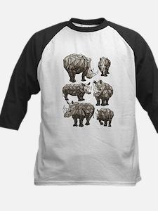 Geometric Rhino Baseball Jersey