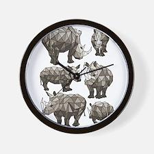 Geometric Rhino Wall Clock