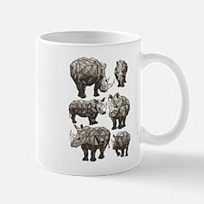 Geometric Rhino Mugs