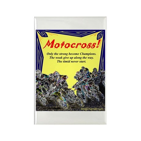 """Motocross Champions"" Rectangle Magnet ("