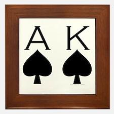 Ace King Framed Tile