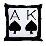 Ace King Throw Pillow