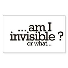 am I invisible? Rectangle Decal