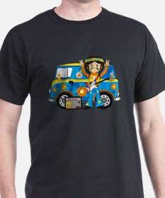 Hippie Boy and Camper Van T-Shirt