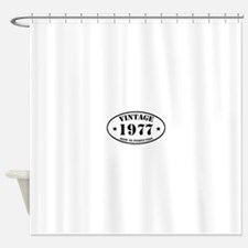 Vintage Aged to Perfection 1977 Shower Curtain