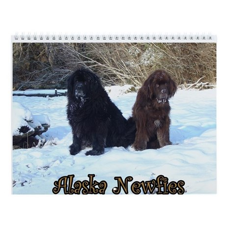 Newfoundland Dog Wall Calendar