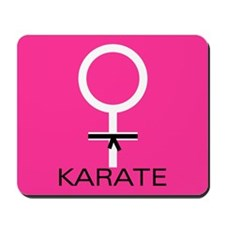 Karate Black Belt Female Mousepad