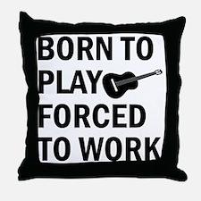 Cute Ukulele player designs Throw Pillow