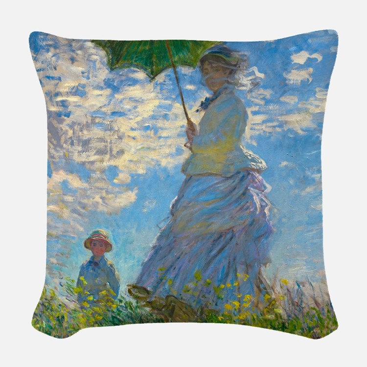 Woman with A Parasol by Claude Monet Woven Throw P