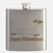 Happy Halloweiner Flask