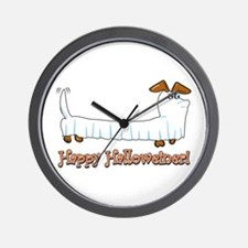 Happy Halloweiner Wall Clock